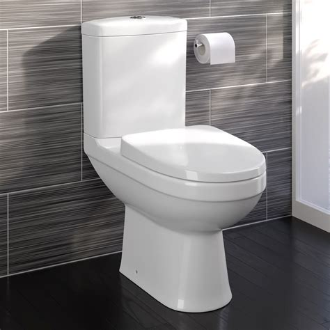 bad wc modern white ceramic coupled toilet bathroom pan
