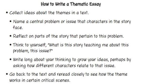 How To Write A Theme Essay thematic essay 8th grade l a