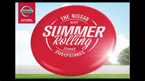 Nissan Summer Sweepstakes - nissan kicks off keep summer rolling service sweepstakes