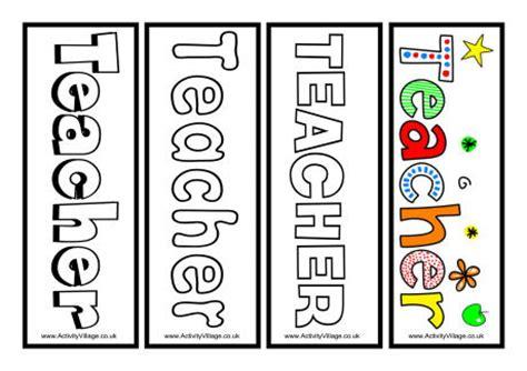 printable bookmarks for teacher appreciation 6 best images of teacher printable color bookmarks