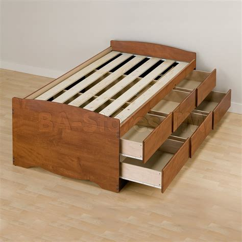 twin platform bed with storage drawers prepac tall twin platform storage bed with 6 drawers in