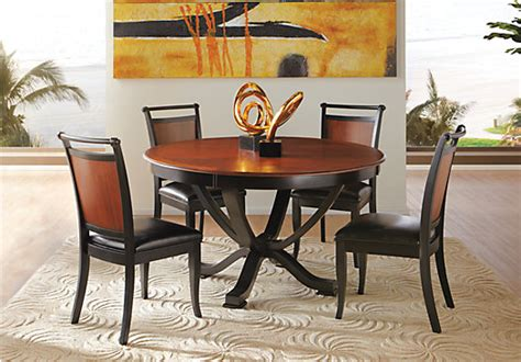 Rooms To Go Kitchen Furniture | orland park black 5 pc round dining set dining room sets