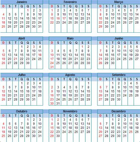 Calendario Brasileiro 2015 Calend 225 2015