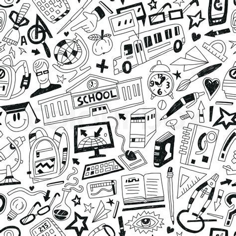 education doodle vector free school education doodles stock vector colourbox