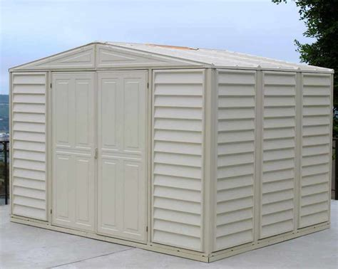 Duramax Plastic Shed by Duramax Vinyl Shed 10 X 8