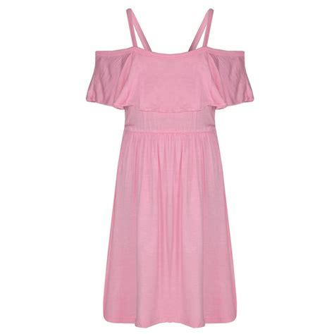 Dress Seven skater dress plain color summer shoulder dresses 7 13 yr ebay