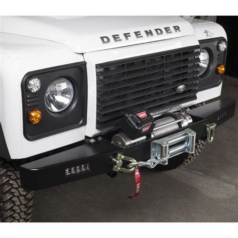 land rover defender bumper lights rovers winch bumper w drl defender rna2108