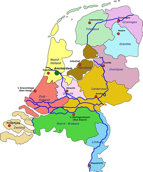 netherlands map hd free vector graphic netherlands map geography free