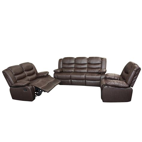 3 seater recliner lounge 3 seater recliner couch lounge brown bonded leather buy