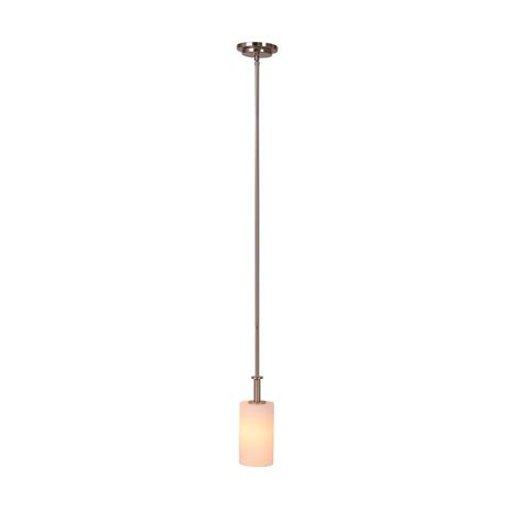 Satin Nickel Pendant Light Fixtures Illumine Beal 1 Light Satin Nickel Mini Pendant Cli Sh0247538 The Home Depot
