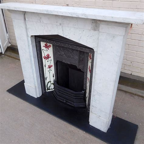Gothic Arched Marble Fireplace Surround   Victorian