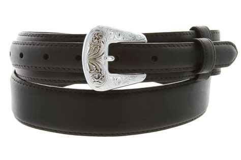 5729 1 tanned leather ranger belt brown