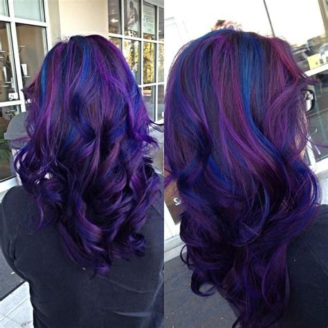 black n purple hair the gallery for gt black blue and purple hair