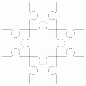 Best Photos Of Dodecahedron Cut Out 4 Pieces 12 Sided 3d - 9 jigsaw template by bird crafts clipart best