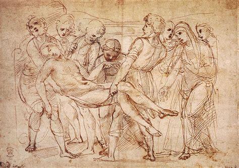 Sketches Of Dagli by Study For The Entombment By Raffaello Sanzio