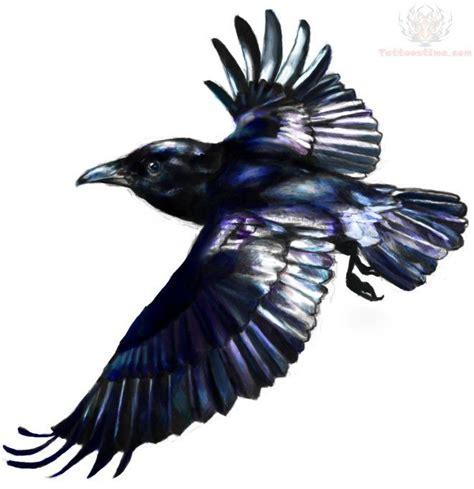 raven tattoos designs flying design