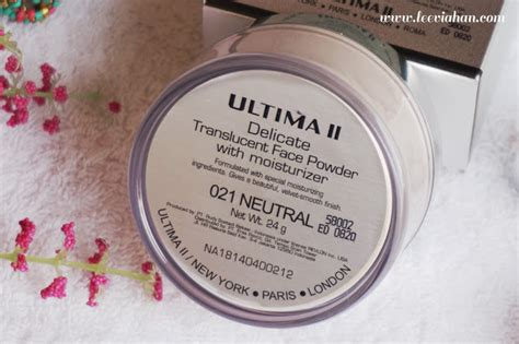 Bedak Translucent Ultima indonesia by via han ultima ii delicate translucent powder with