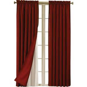 walmart curtains eclipse blackout thermaliner curtain panels set of 2
