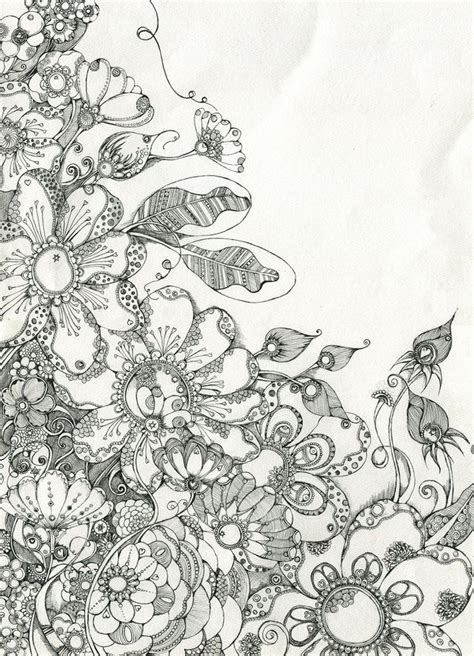 doodle 4 drawing sheet 112 best zentangle flowers and leaves images on