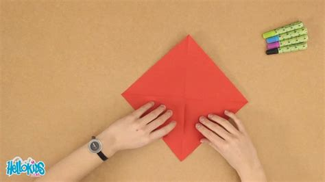 Origami Finger - how to craft the origami finger hellokids