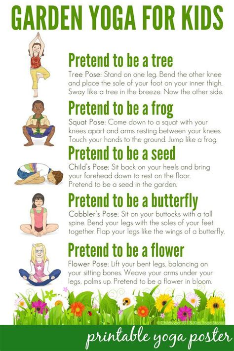 printable yoga poses for preschoolers calm down yoga routine for kids printable free