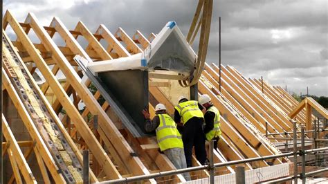 Building A Gambrel Roof by Wonderful Homes Dormer Roofs Craned In On 5 New Homes We