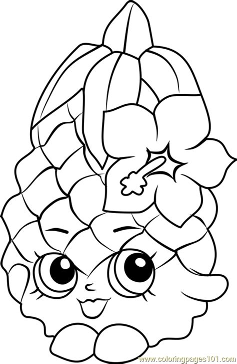 shopkins coloring page pdf pineapple crush shopkins coloring page free shopkins