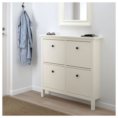 hemnes shoe cabinet ikea hemnes shoe cabinet with 4 compartments white 107x101 cm