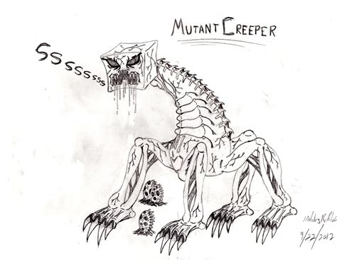 minecraft coloring pages mutant skeleton mutant creeper by typhus09 on deviantart