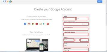 gmail sign up create new gmail account gmail login