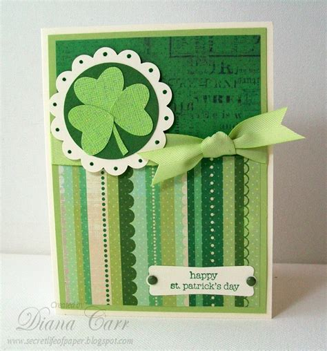 Handmade Day Card - handmade st s day card handmade st patricks