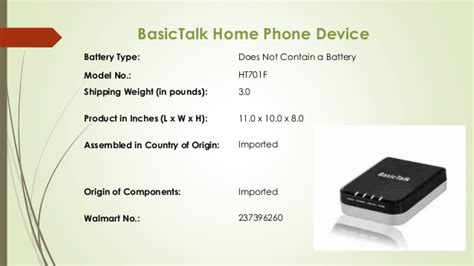 basictalk home phone device home review