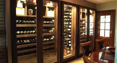 custom wine cabinet wenge wood 640 bottles