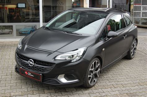 Folien Manufaktur Opel Corsa Vollfolierung Schwarz Matt