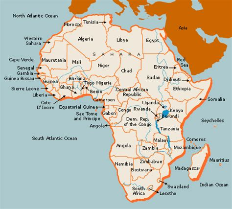 africa map of rivers congo river map africa