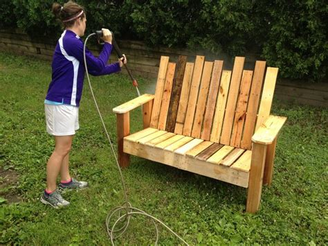 do it yourself bench repurposed pallet into a do it yourself bench hometalk