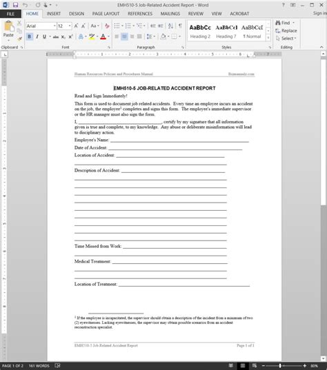 related report template emh510 5