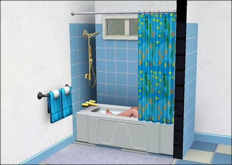 mod the sims simple shower tub