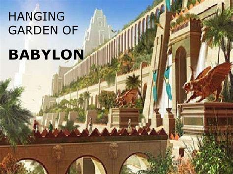 what are the hanging gardens of babylon