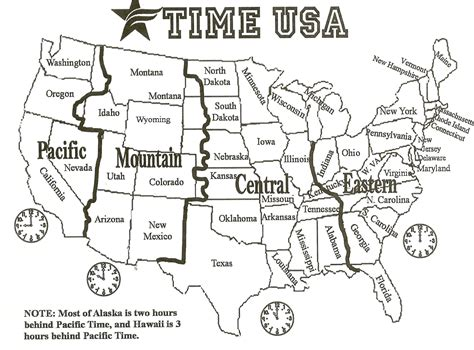 black and white us time zone map search social