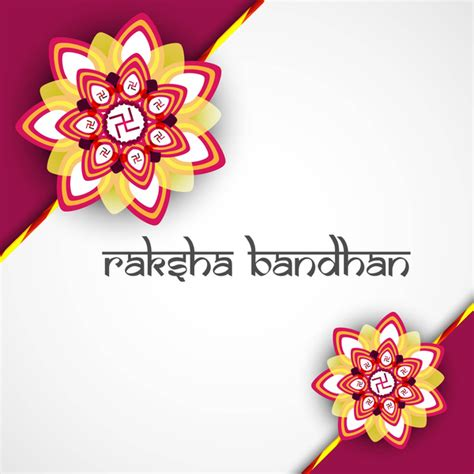 raksha bandhan card template beautiful hindu rakhi card colorful presentation vector