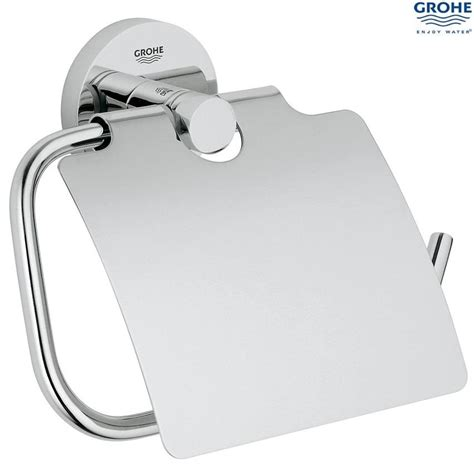 grohe essentials bathroom accessories set chrome plated