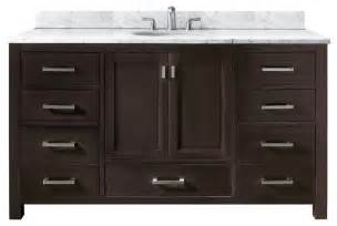 60 Bathroom Vanity Sink Modero Single Vanity Only Espresso Contemporary