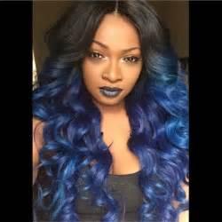 purple weave on black women midnight blue purple ombre hairstyle black beauty weave
