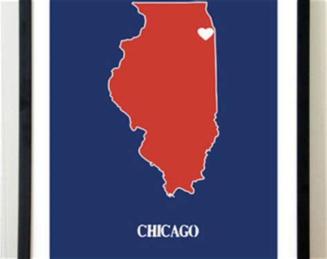 chicago map silhouette chicago poster illinois poster chicago illinois white