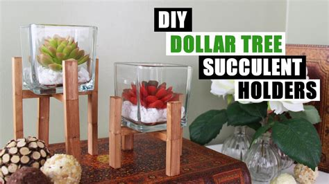 diy dollar tree home decor diy dollar tree succulent holders diy home decor youtube