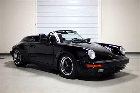 porsche speedster 1989 porsche 911 speedster black 3 357 sloan cars