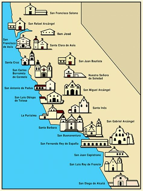 california map of missions did you that there is a doing the california