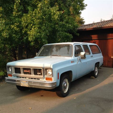 old car manuals online 1992 gmc suburban 2500 electronic toll collection 1974 gmg suburban super custom 2500 454 one owner for sale in palo alto california united states