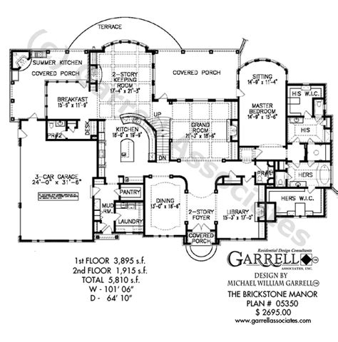 manor house plans brickstone manor house plan garrell associates inc